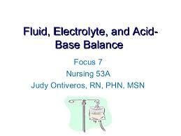 Fluid Electrolytes Acid Base Balance
