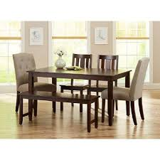 Kitchen Tables At Walmart Brilliant Stylish Walmart Dining Table And Bench Interior Design