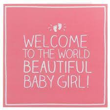 Beautiful Baby Girl Congratulations