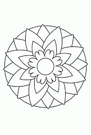 25 Bladeren Mandala Kind Kleurplaat Mandala Kleurplaat Voor Kinderen