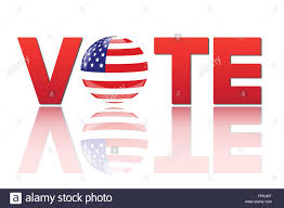 american flag word art image of the word vote with the flag of the united states of america