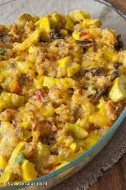 Cornbread croutons are quick and easy to make with leftover cornbread! Spicy Yellow Squash Dressing A Leftover Cornbread Recipe