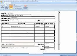formato para facturas en excel formato para imprimir facturas en excel tablas