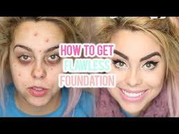 acne foundation routine for flawless skin full coverage tutorial i nicole matthews i