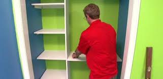 allen lyle installing diy closet storage and shelving