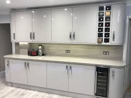 full size of paint kitchen high gorgeous handleless gloss grey cupboard light cabinets cabinet doors
