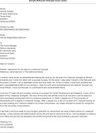 Ideas Collection Ideas Collection Molecular Biology Cover Letter