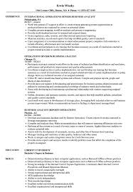 Business Analyst Operations Resume Samples Velvet Jobs