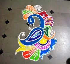 Small Picture Beautiful Simple Peacock Rangoli Designs Images