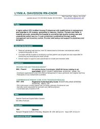 Free Nursing Resume Samples Experience Resumes