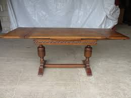 oak draw leaf extending refectory dining table