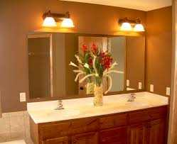 best ideas of brown wooden vanity top small bathroom lighting ideas from small bathroom mirror and