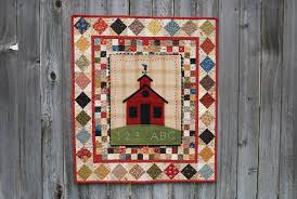 September – School & September school house wool applique quilt pattern Adamdwight.com