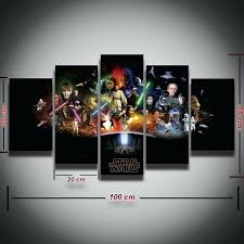 k5351654 loveable star wars wall decor 5 panels printed star wars picture painting on canvas wall