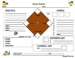 Baseball Chart Baseball Field Behavior Modification Chart