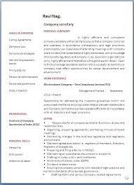 Corporate Resume Format