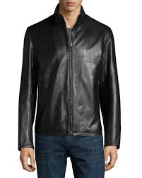 supreme men classic leather jackets1