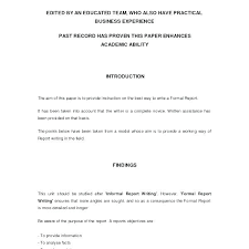 Short Business Report Sample Sample Formal Business Report Template Pics Large Example