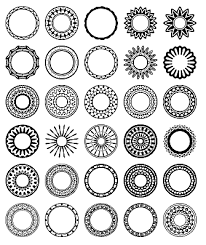 Free Circular Border Shapes for shop and Elements