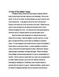 a tale of two cities essay gcse english marked by  page 1 zoom in