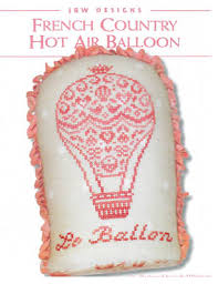 French Cross Stitch Charts French Country Hot Air Balloon Cross Stitch Chart