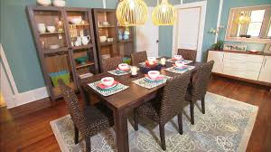 Lovely Yellow Cage Bulb Hanging Lamps Over Dining Room Table Centerpieces  Over Square Wooden Dining Table And Rattan Dining Chairs As Well As Wooden  ...