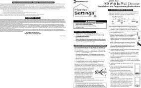 h0014 in wall dimmer switch user manual ha14 english indd intermatic