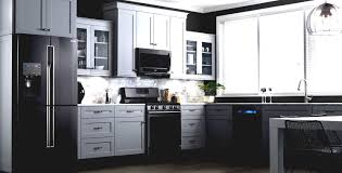 painted kitchen cabinets with black appliances. Kitchen Cabinets Black Appliances White Painting Paint Painted With