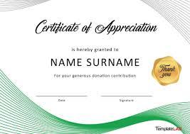 Free Appreciation Certificates 009 Template Ideas Certificate Of Appreciation Free Donation