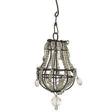 creative co op metal miniature chandelier ornament with glass