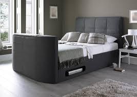 upholstered bed grey. York Upholstered New Grey TV Bed