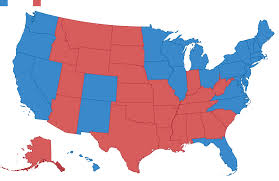 Is Like Blue 2016 Prediction Lot And Us Red Travel Map Electoral 2012 Maps Major A Looking States Attractions Tourist 2008