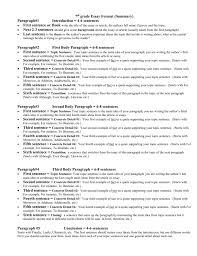 Example Summary Essay 7th Grade Essay Format Summary