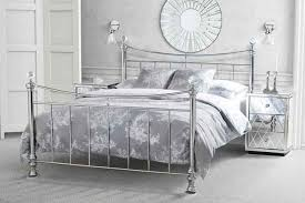 chrome bedroom furniture. waterford nickel chrome plated metal bed bedroom furniture e