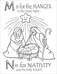 Free Nativity Coloring Pages Printable Sheets P Staranovaljainfo