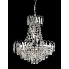 endon 96826 ch amadis 6 light chandelier chrome