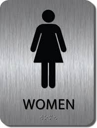 get the great look of brushed metal at a fraction cost bathroom sign94 sign