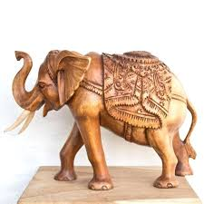 wooden elephants figurines new elephant statue hand carved stool for in india with regard to 11