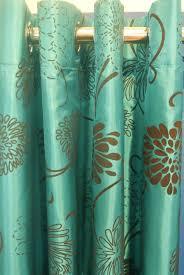 pair of teal blueturquoise brown taffeta eyelet curtains 90 teal taffeta curtains