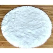 teal area rug 5x7 round white faux fur sheepskin