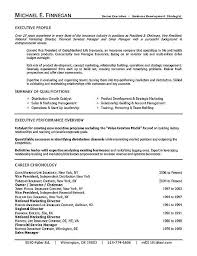 Insurance Manager Resume Life Insurance Executive Career Resume Examples Sample Resume