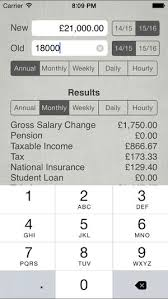 Calculate Monthly Paycheck Uk Salary Calculator 2018 19 On The App Store