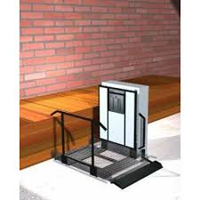 Freedom 28 Outdoor Wheelchair Lift for Home Straight Right