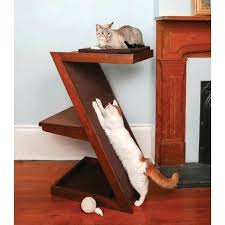 cat furniture modern tranquil bed lounge and with regard to tree litter box