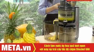 Cách làm nước ép tươi ngon với Máy ép trái cây tốc độ chậm Biochef 666 -  YouTube