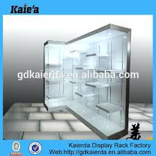 idea glass display case with lights and lighted glass display end display cabinet with lights 76