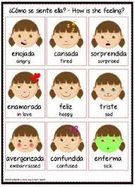 Small Picture SPANISH FEELINGS Chart Poster Teacher Emotions Autism Spanish