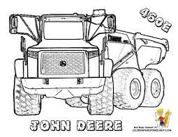 Small Picture John Deere 460 Dump Truck Construction Coloring Page You can