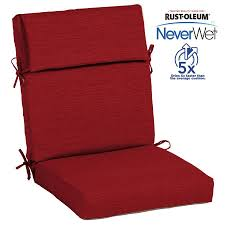 allen roth neverwet 1 piece cherry red high back patio chair cushion
