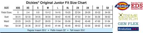 Dickies Juniors Pants Size Chart 78 Problem Solving Dickies Jeans Size Chart